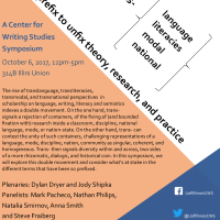 Upcoming Symposium--Trans: A prefix to unfix theory, research, and practice